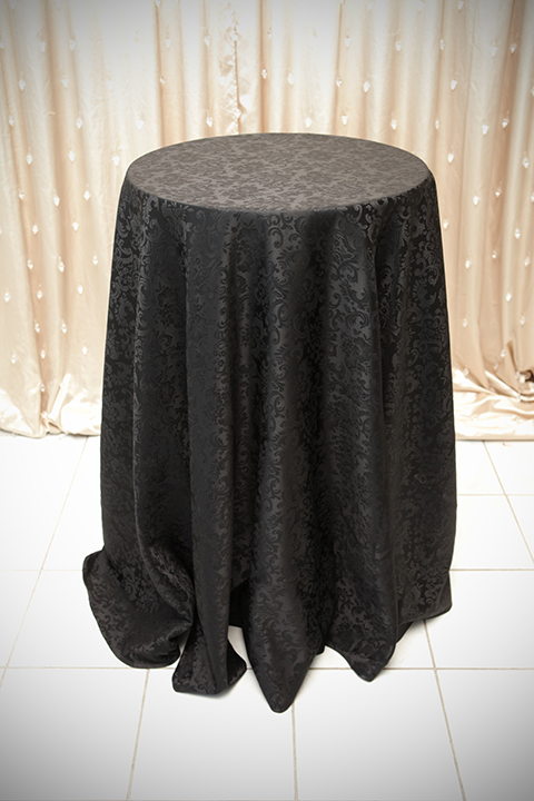 Black Damask Tablecloth Right Choice Linen