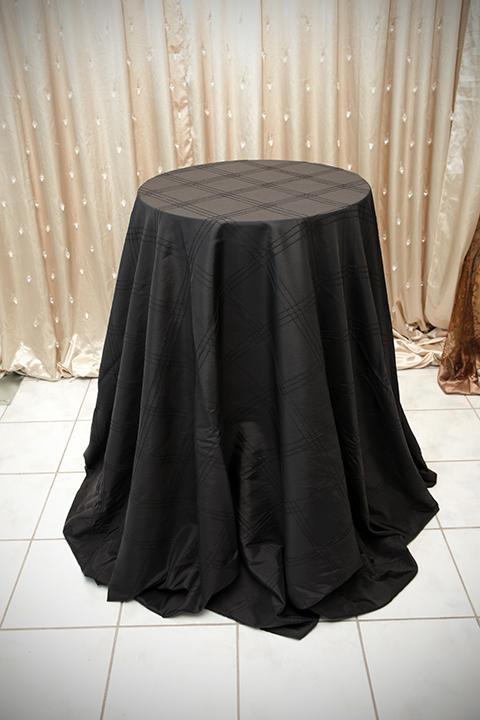 Black Pintuck Tablecloth