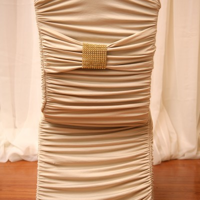 Champagne Fitted Chair Cover