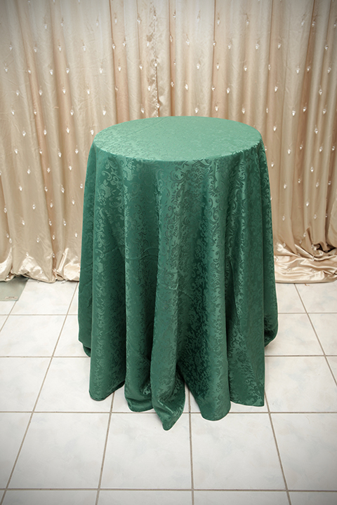 Exceptional Forest Green Damask Tablecloth