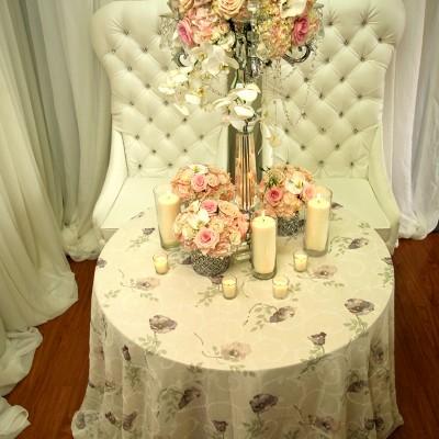 Garden Rose Table Overlay