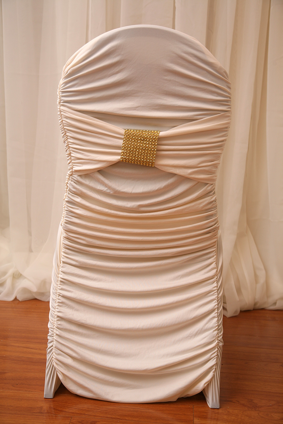 Ivory Fitted Chair Cover