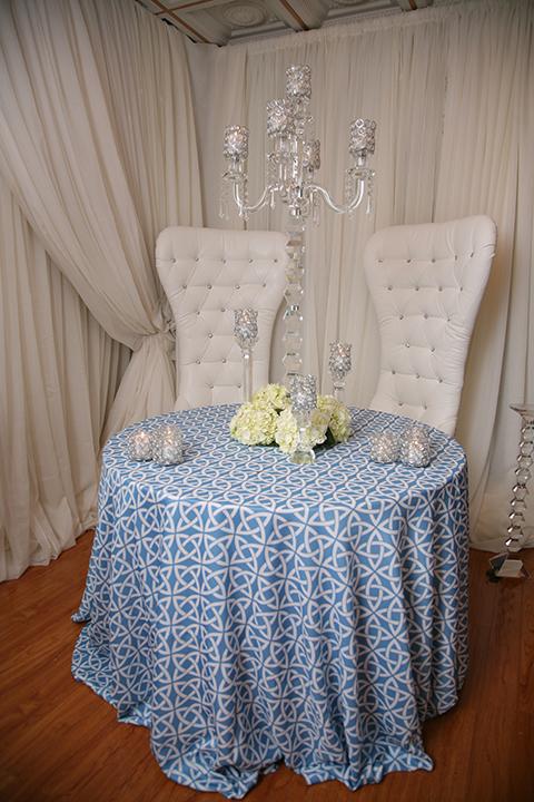 Ocean Blue Printed Tablecloth Right Choice Linen