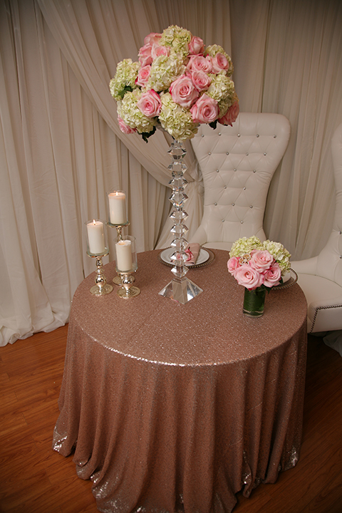 Rose Gold Sequins Tablecloth