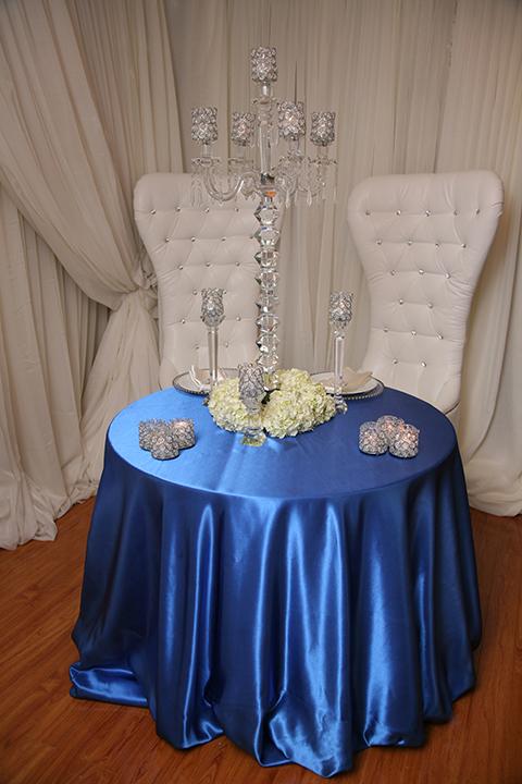 Royal Blue Satin Tablecloth Right Choice Linen