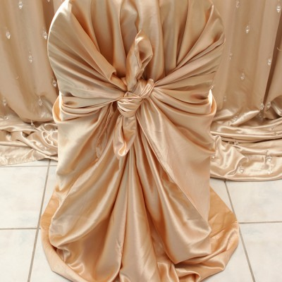 Gold Satin Chair Cover