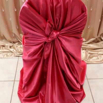 Raspberry Satin Chair Cover