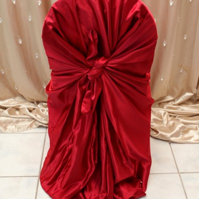 Red Satin Chair Cover
