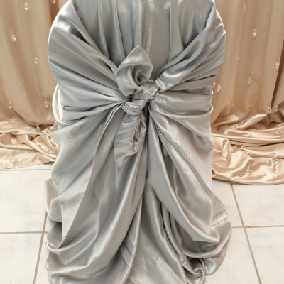 Silver Satin Chair Covers