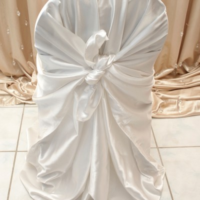 White Satin Chair Cover