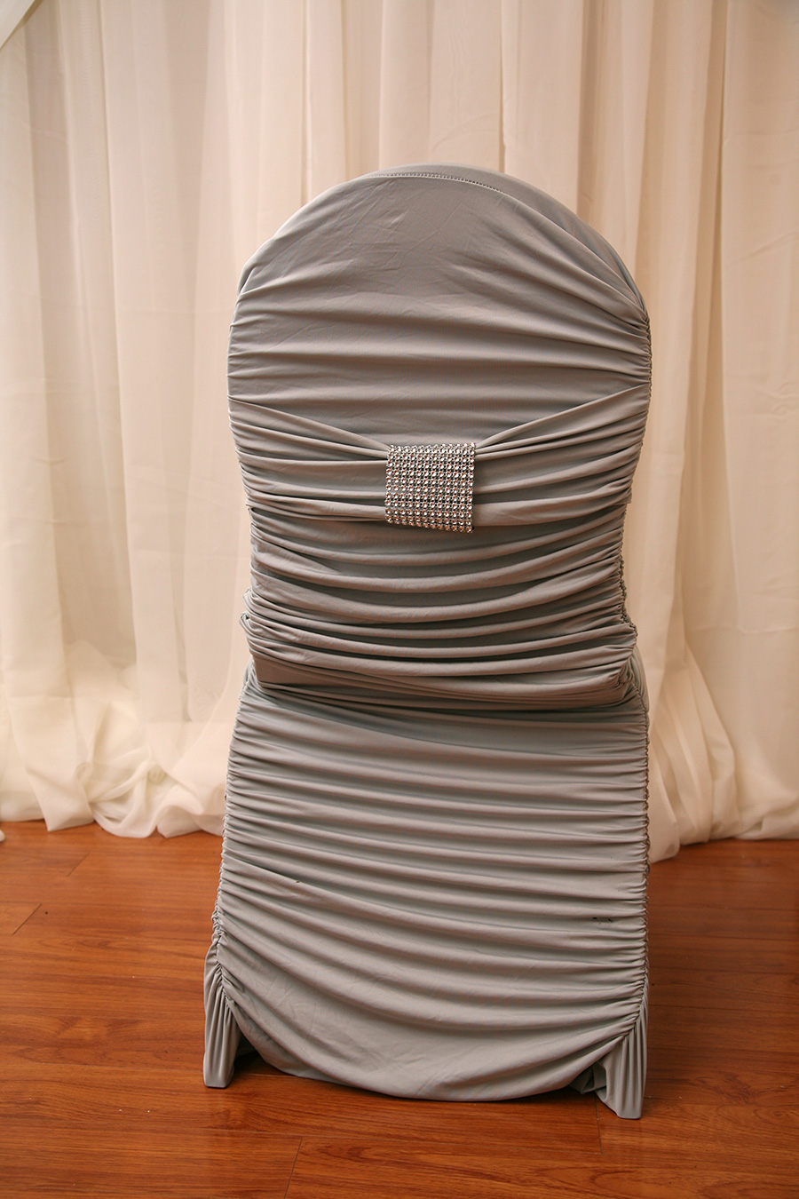 Silver Fitted Chair Cover