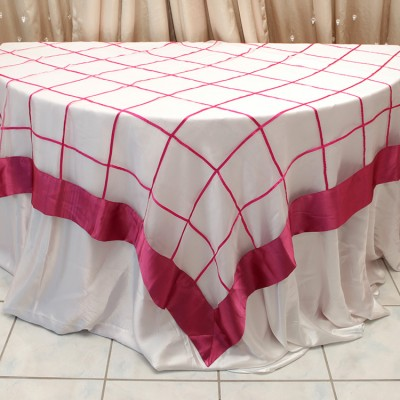 Ashely Style Overlay Table Cover Red