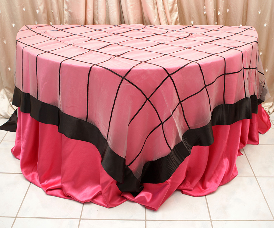 Ashley Style Overlay Table Cover Black
