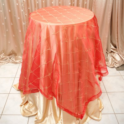 Ashley Style Overlay Table Cover Orange
