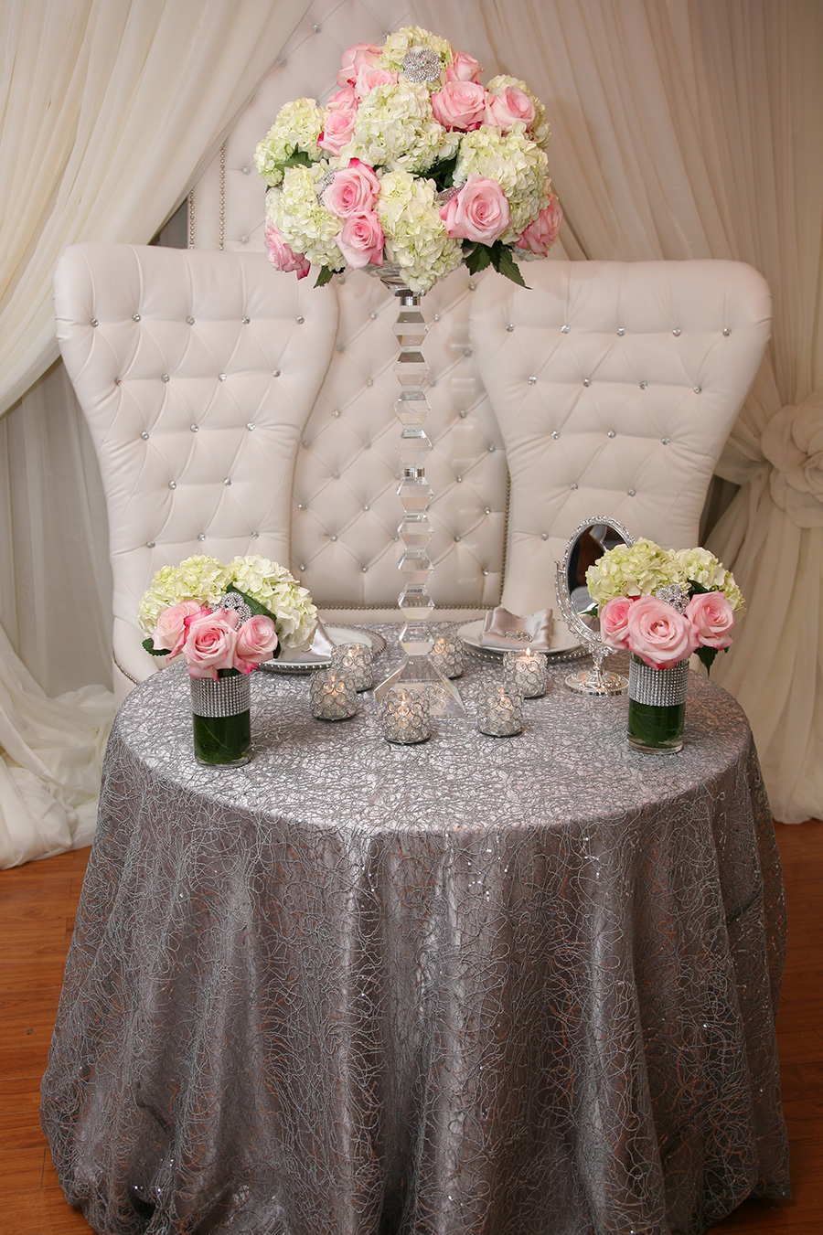 Corded Style Overlay Table Cover 2