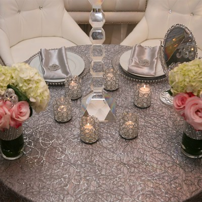 Corded Style Overlay Table Cover