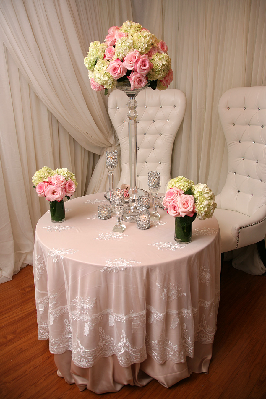 Lace Table Overlay Ivory