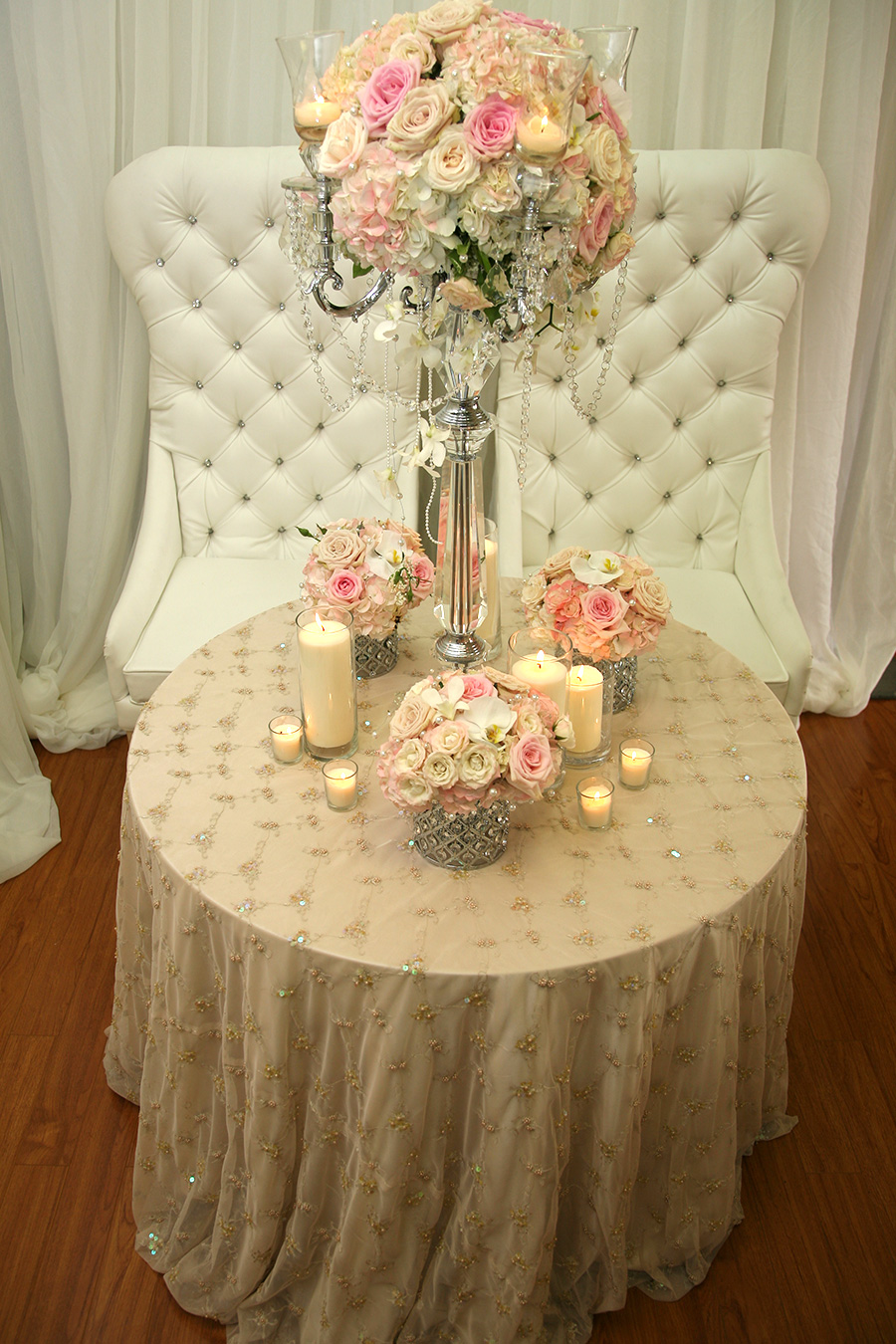 Pearl Overlay Table Cover