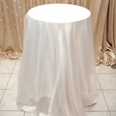 Sheer Overlay Table Cover White
