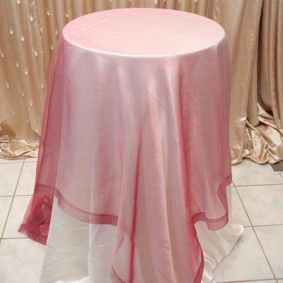 Sheer Overlay Table Cover Wild Raspberry