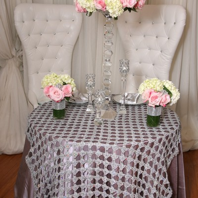 Sheryl Style Overlay Table Cover