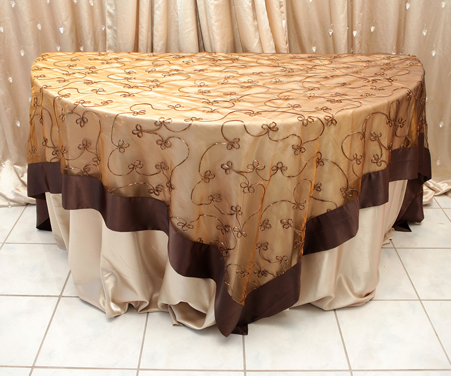 Chocolate Swirl Overlay Gold Tint Right Choice Linen